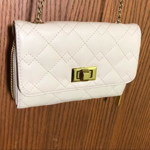 Handbags - White with gold chain cross body purse